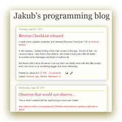 Jakub's blogger blog